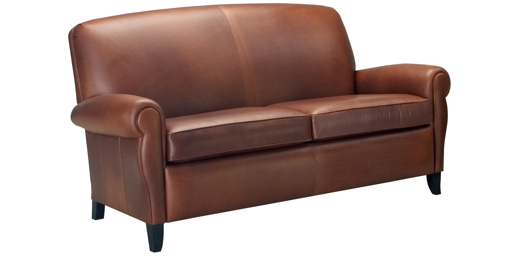 Apartment size two seat leather sofa collection club for Apartment size leather sofas