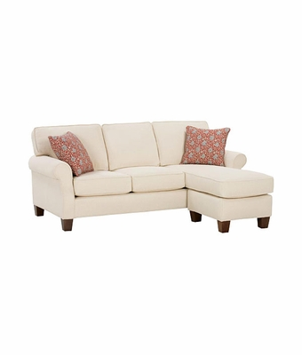 Casual sectional sleeper sofa with chaise lounge club - Apartment size sofa with chaise ...