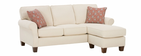 Nikki Upholstered Apartment Size Reversible Chaise Sofa