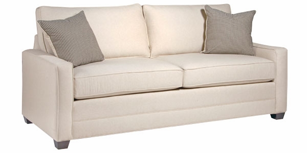 apartmentsize fabric pillow back queen sleeper sofa