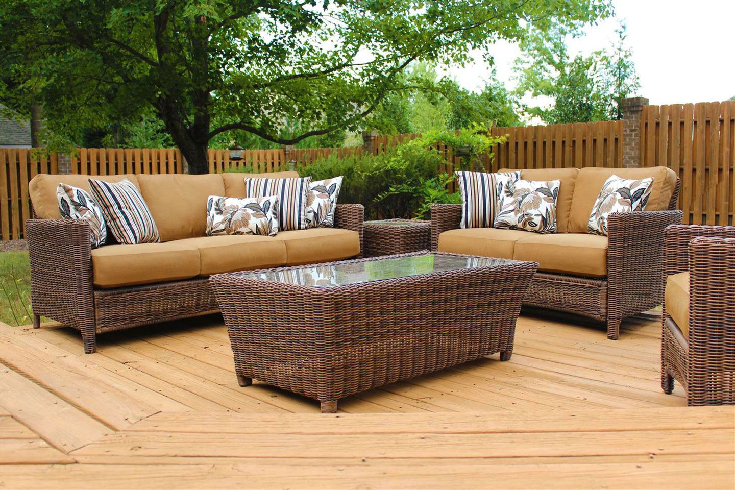 Oceana Resin Wicker Outdoor Patio Seating Group