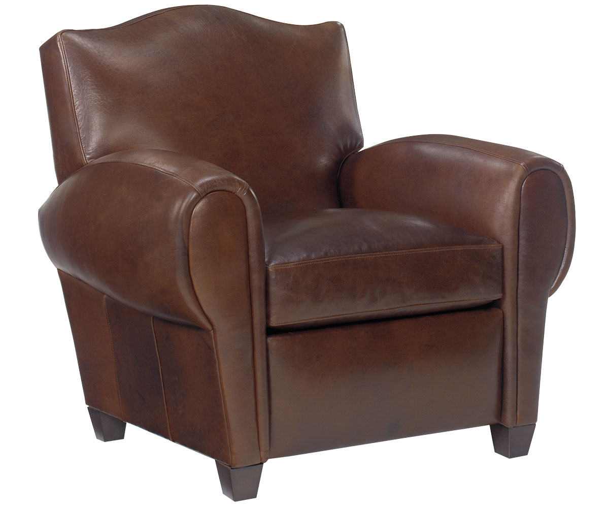 Overstuffed leather chair - Parisian Recliner Club Chair Clubfurniture