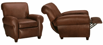 Parker  Designer Style  Leather Club Style Reclining Chair  sc 1 st  Club Furniture & Tight Back Leather Club Chair Recliner | ClubFurniture.com islam-shia.org