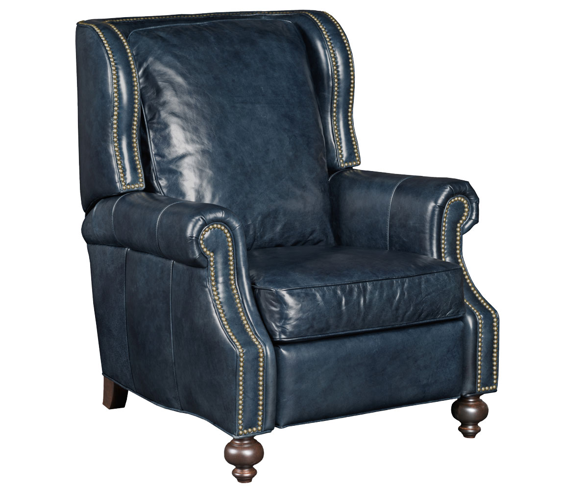 Paulson wing back traditional reclining chair chairs and for Wing back recliner chair