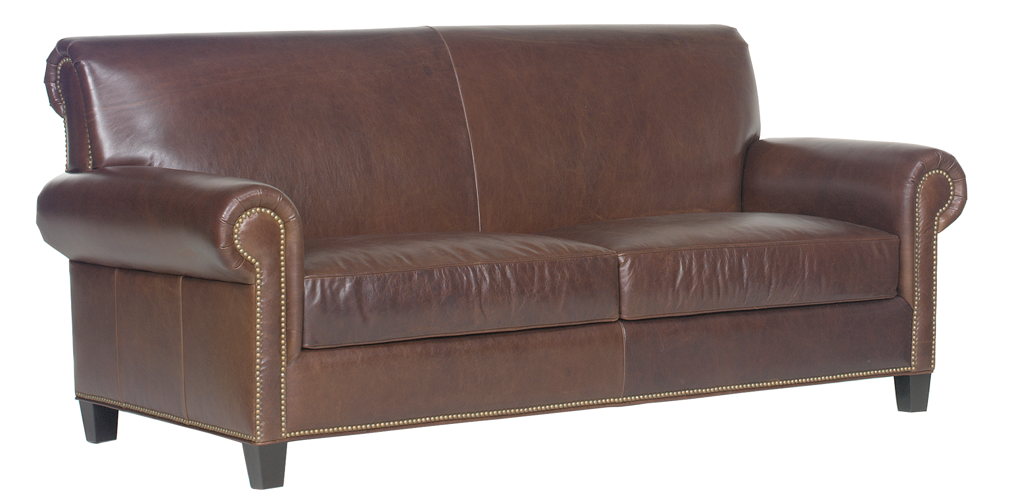 Traditional tight back leather sofa loveseat collection for Traditional leather furniture