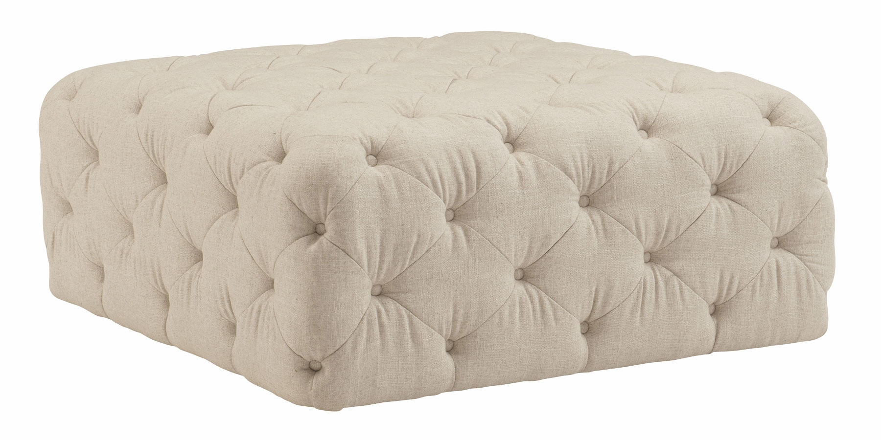 Rhea Quick Ship Large Square Tufted Ottoman