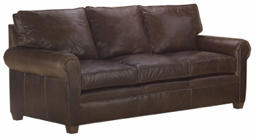 "Rockefeller ""Ready To Ship"" Classic Leather Queen Sleeper Sofa"