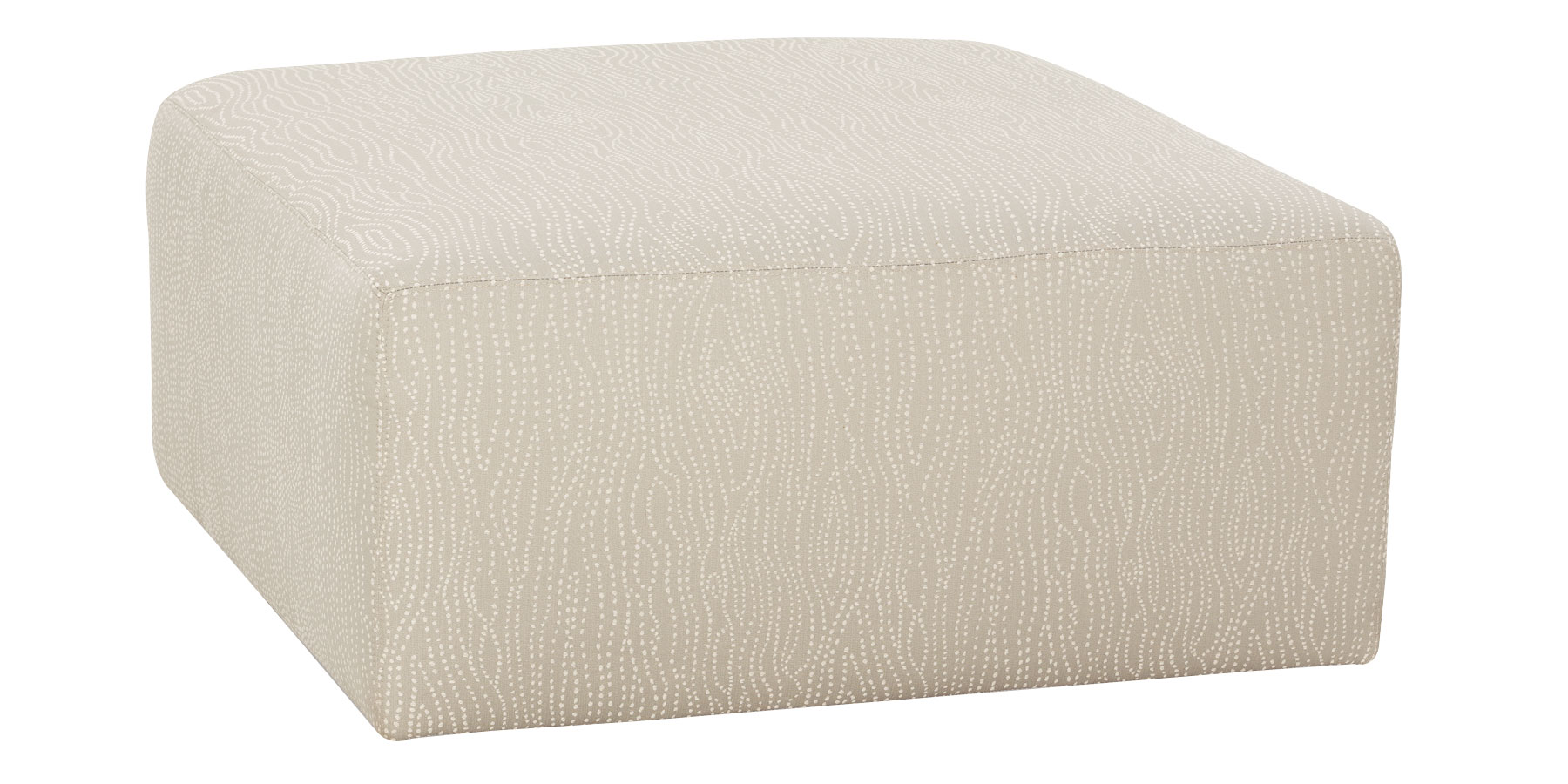 Large Square Fabric Ottoman Bench