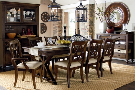 Hunter formal cottage dining room furniture set dining for Formal dining room furniture