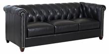 tufted leather chesterfield sofas club furniture. Black Bedroom Furniture Sets. Home Design Ideas