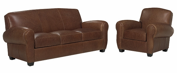 Distressed Leather Queen Sleep Sofa And Leather Recliner