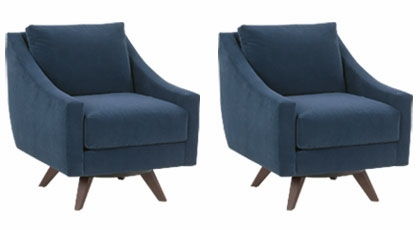 """Mid Century Modern Style Chairs of 2 marla """"designer style"""" mid-century modern swivel chairs"""