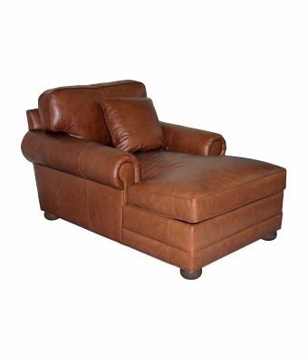 Large two arm leather chaise lounge club furniture for 2 arm chaise lounge