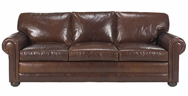 Extra Deep Seated Leather Oversized Sofa Couch