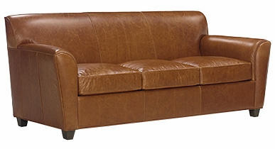 Designer Style Contemporary Low Back Leather Sofa