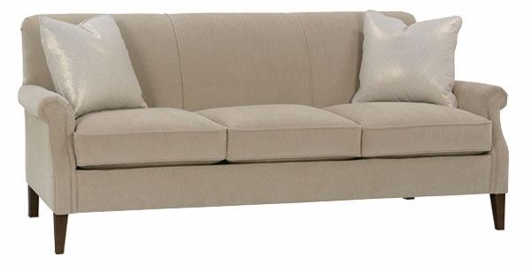 Traditional tight back condo apartment size sofa club furniture - Apartment size living room furniture ...