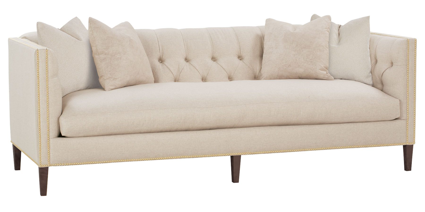 Upholstered Tight Back Single Seat Sofa Collection Club