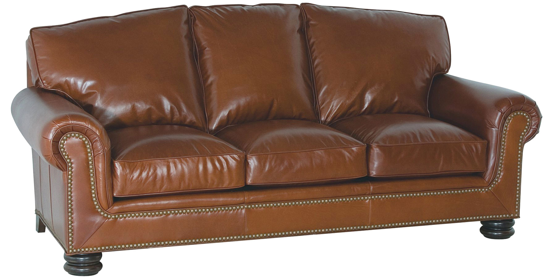 Arched pillow back top grain leather sofa club furniture for Best pillows for leather couch