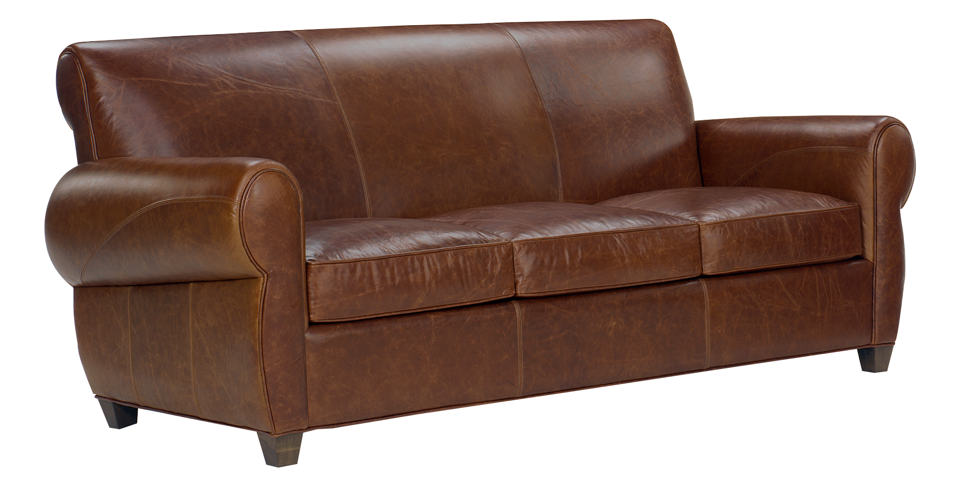 Tight back rustic lodge leather furniture sofa collection for Furniture leather sofa