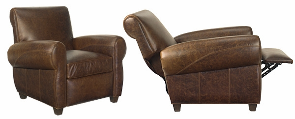 Tribeca  Designer Style  Vintage Rustic Leather Recliner Chair  sc 1 st  Club Furniture & Distressed Vintage Leather Recliner Chair | Club Furniture islam-shia.org