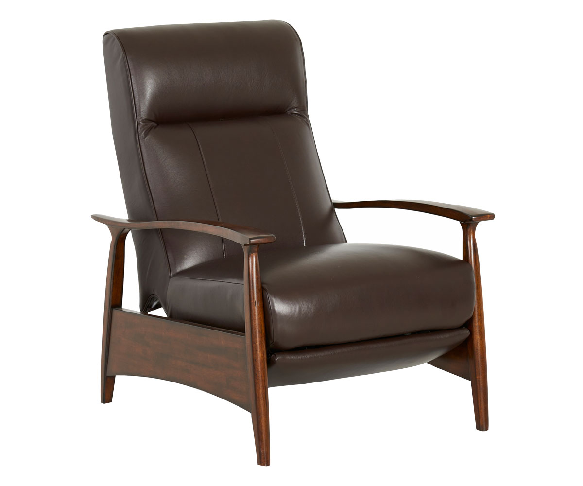 Mid Century Modern Recliner With Sleek Wooden Frame Club