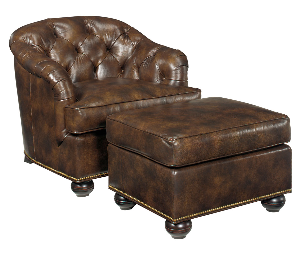 Small Traditional Tufted Leather Club Chair Club Furniture