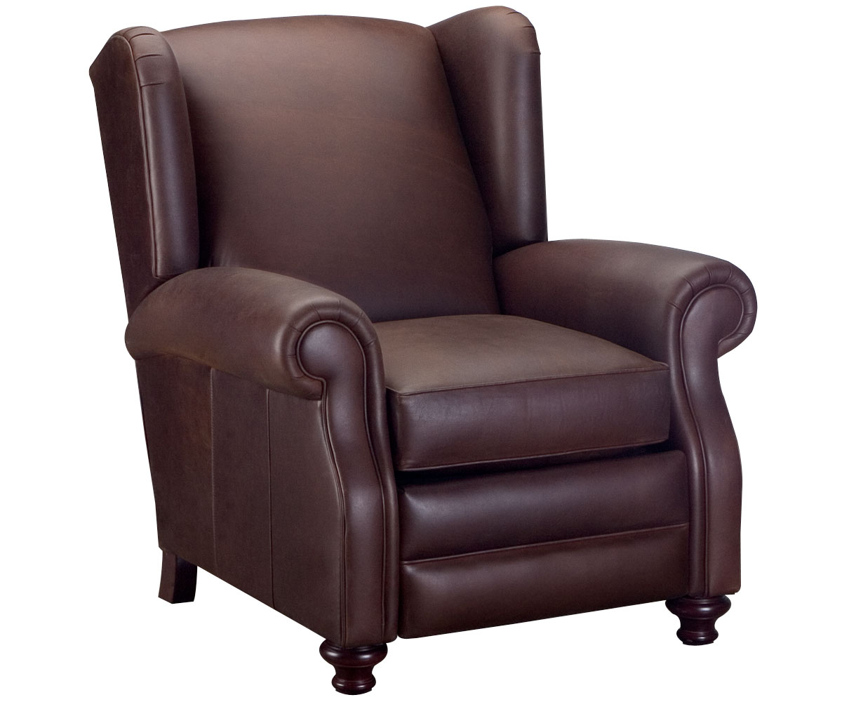 wingback leather recliner chair | club furniture