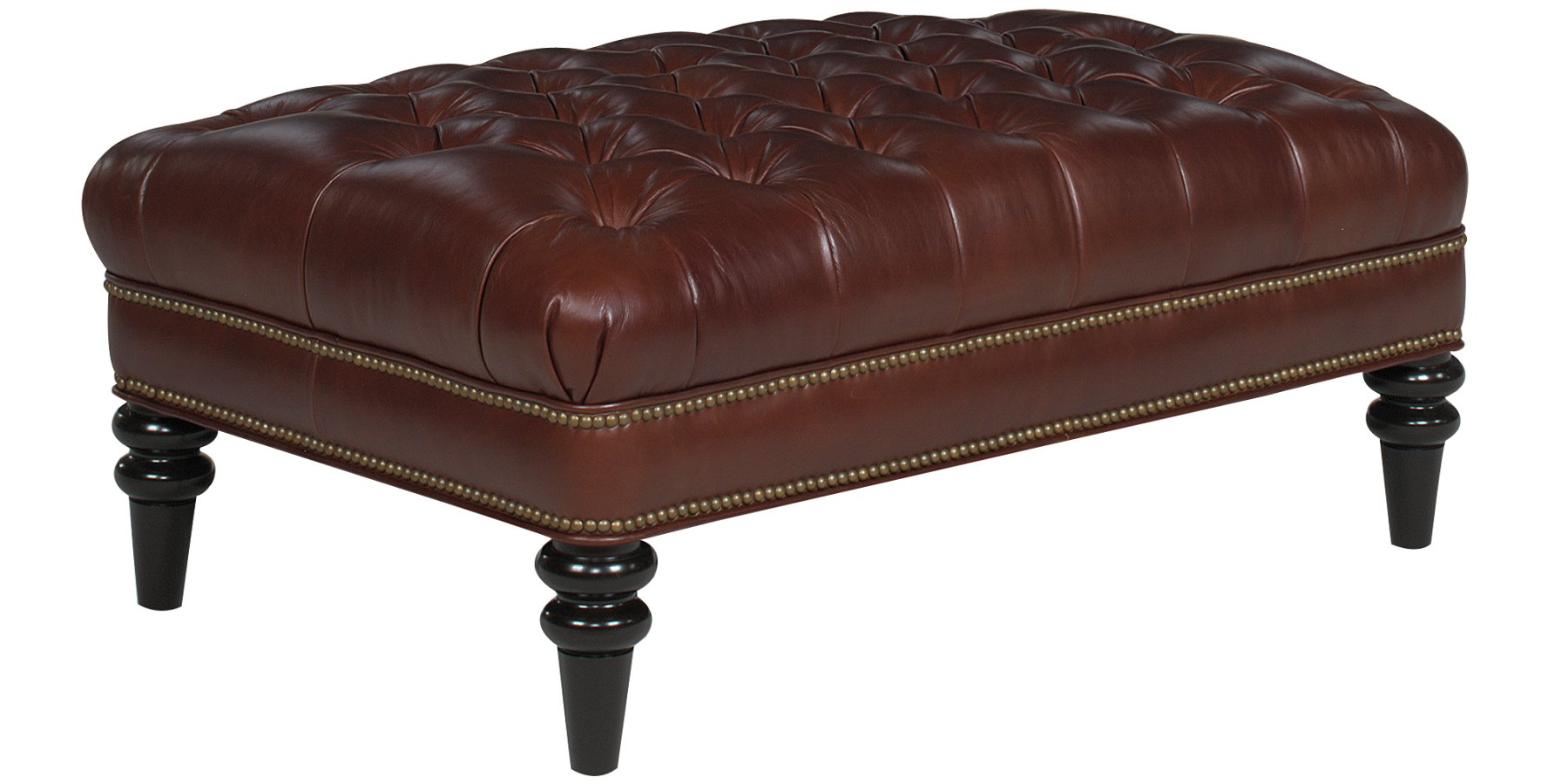 Upholstered Tufted Bench Coffee Table With Nailhead Trim Club Furniture