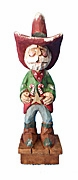 Cowboy Sheriff Santa Claus woodcarving #17084