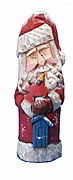 Hand Carved Old World Santa Claus Decoration #15209