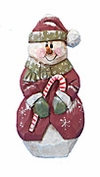Wooden Snowman Christmas Decoration #17204