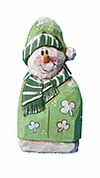 Wooden  Irish Snowman Decoration #17172
