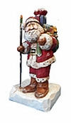 Wood Kriss Kringle with Christmas Sack #17094