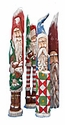 "11"" Pencil Santa Claus wood carvings"