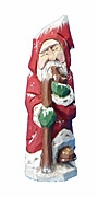 Old World Santa Claus woodcarving #17175