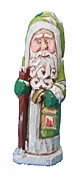 Old World St. Patrick's Santa Claus Woodcarving #16028