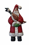Old World Santa Woodcarving  with Goose #17065