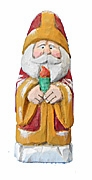 Old World Santa Claus Woodcarving with Candle