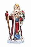 Juenissen Old World Santa Claus with Tree