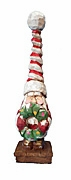 Tall Hat Santa Claus with Wreath #17085