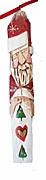 Santa Claus with Quilt Woodcarving