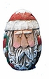 Santa Claus Egg Woodcarving