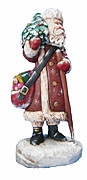 Christmas Traveler Santa Claus Sculpture #16057