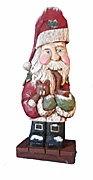 Santa Claus with tobacco pipe