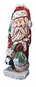 Santa Claus Woodcarving with Christmas Tree #15007