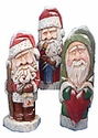 Wood Hand Carved Santas