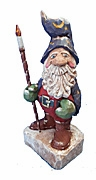 Hand Carved Wizard Santa Claus Decoration #17012
