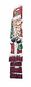 Pencil Santa Claus Woodcarving with Christmas Sack