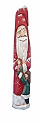 Wood Pencil Santa Claus with child  #17221