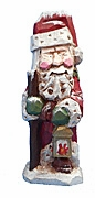 Santa Claus Woodcarving with Sack